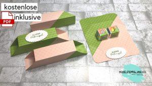 Selbstschließende Box (ohne Kleben) in 2 Farben