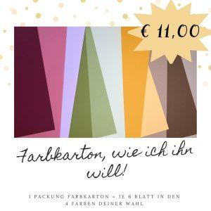 Farbkarton-Mischpakete wie du sie haben möchtest!