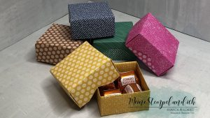 Einfache Origami Box für 4 Küsschen