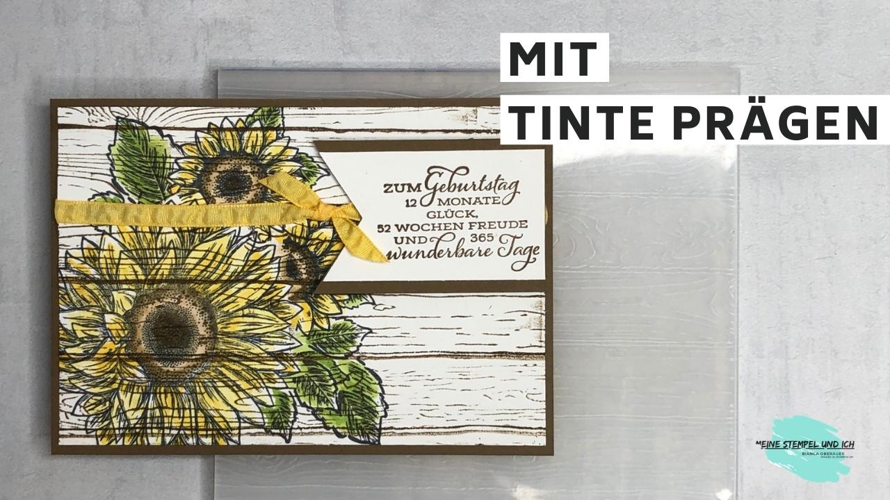 PRÄGEN MIT TINTE/MASKIERTECHNIK